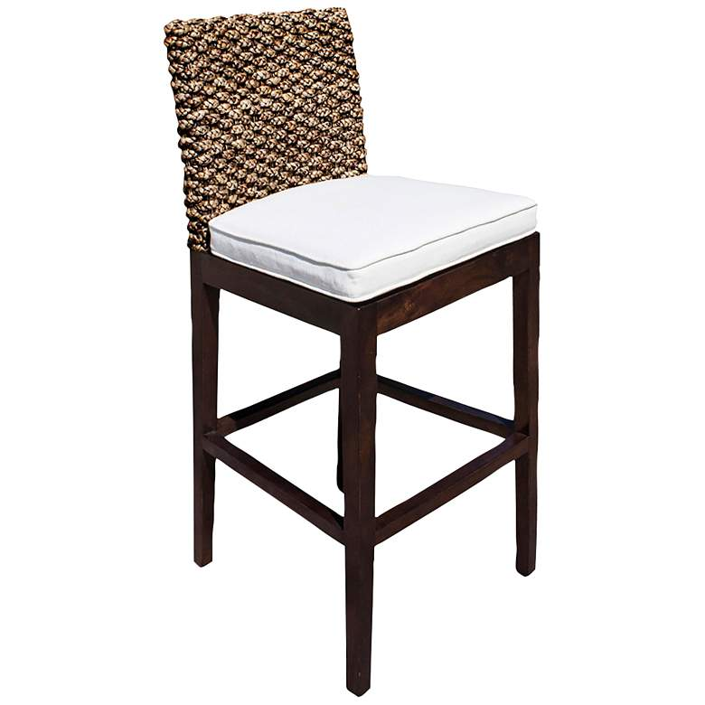 Incredible Panama Jack Sanibel 31 3 4 Cushioned Rattan Bar Stool Inzonedesignstudio Interior Chair Design Inzonedesignstudiocom