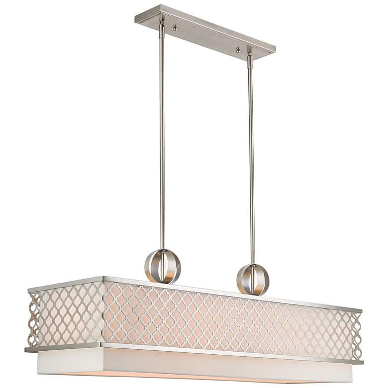 """Arabesque 39 3/4"""" Wide Nickel Kitchen Island Light Pendant"""