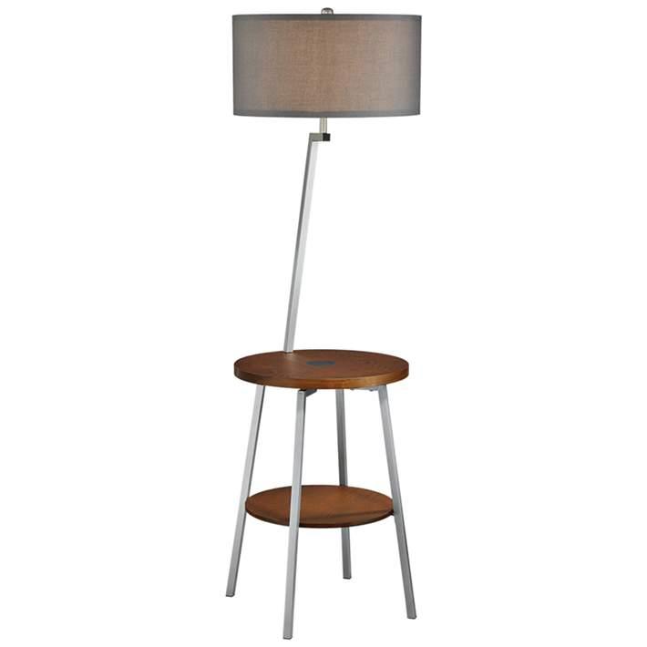 Lemington Silver End Table Floor Lamp