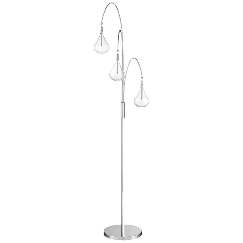 Lite Source Blummer Chrome 3-Light LED Arc Floor