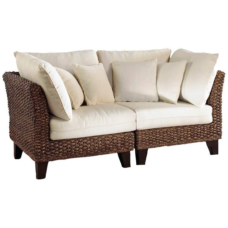Panama Jack Sanibel Rattan 2-Piece Loveseat Set w/ Cushions