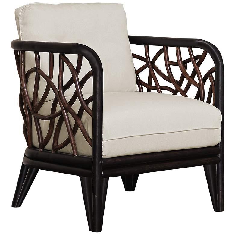 Panama Jack Trinidad Black and Tan Rattan Lounge Chair
