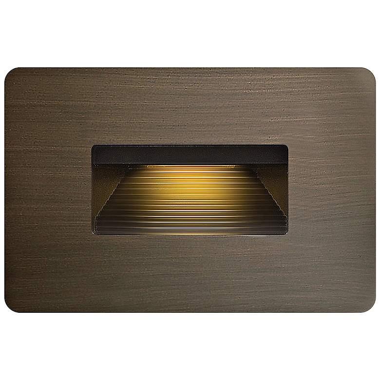 """Hinkley Luna 4 1/2""""W Matte Bronze LED Landscape Deck Light"""