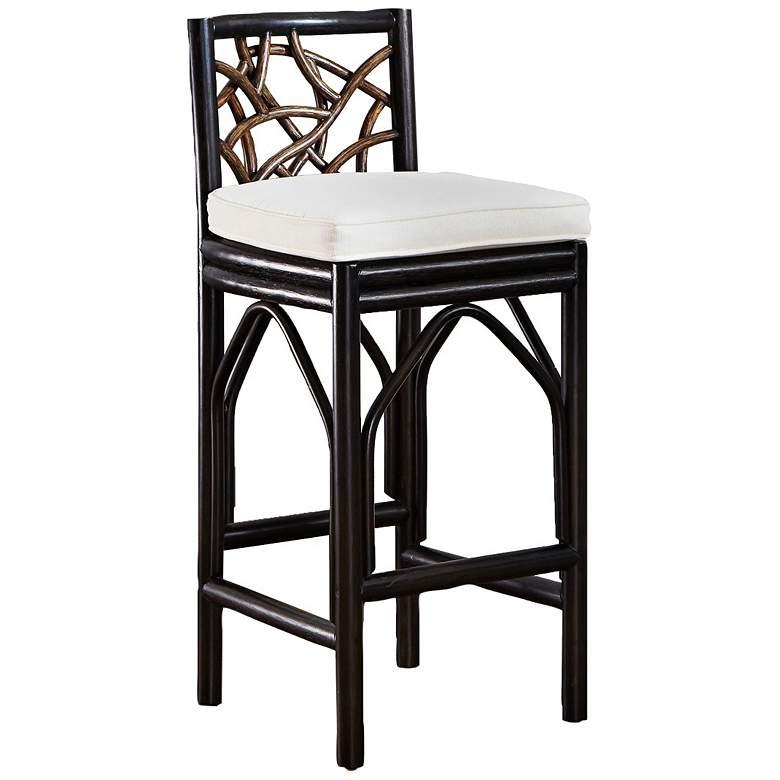 Prime Panama Jack Trinidad Black And Tan Rattan Bar Stool Inzonedesignstudio Interior Chair Design Inzonedesignstudiocom