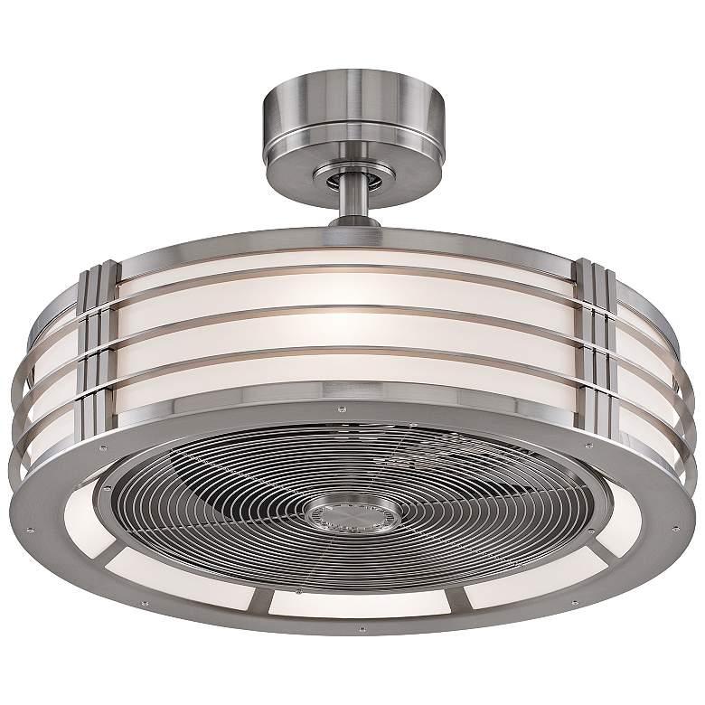 "23"" Fanimation Beckwith Brushed Nickel LED Ceiling Fan"