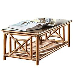 Wicker Rattan Coffee Tables Tables Lamps Plus