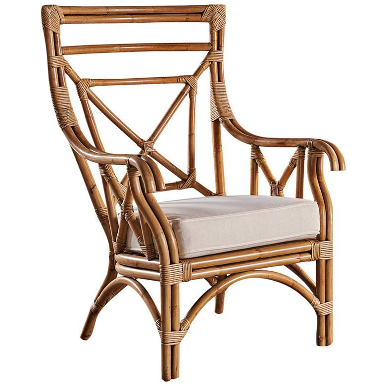 Panama Jack Plantation Bay Honey Rattan Occasional Chair