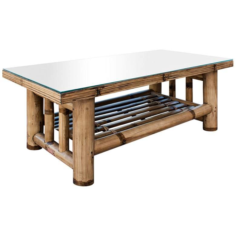 "Panama Jack Kauai 43 1/2"" Wide Natural Bamboo Coffee Table"