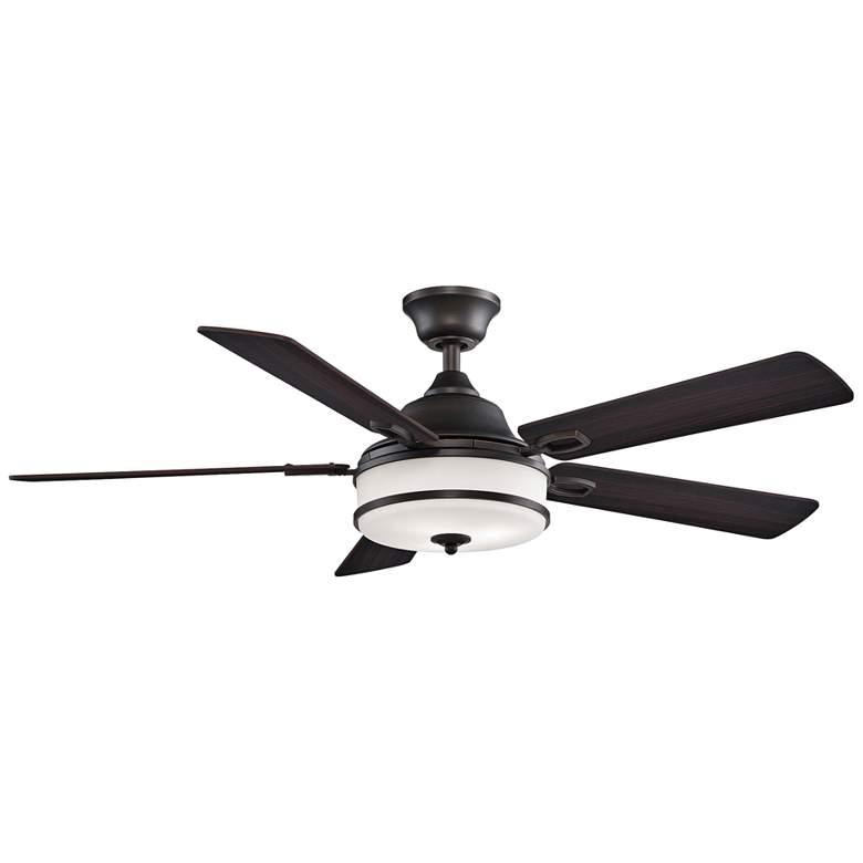 "52"" Fanimation Stafford Dark Bronze LED Ceiling Fan"
