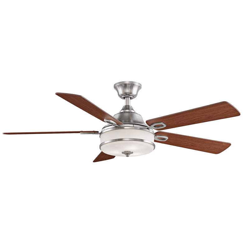 "52"" Fanimation Stafford Brushed Nickel LED Ceiling Fan"