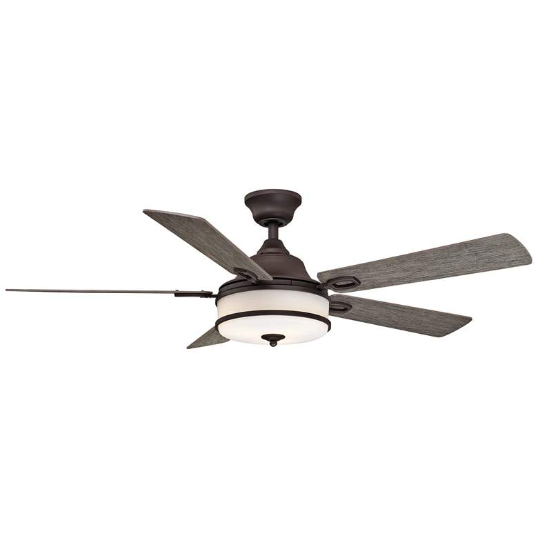 "52"" Fanimation Stafford Matte Greige LED Ceiling Fan"
