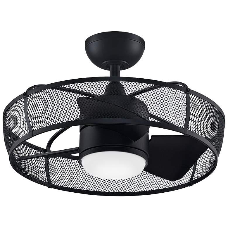 "22"" Fanimation Henry Black LED Ceiling Fan"