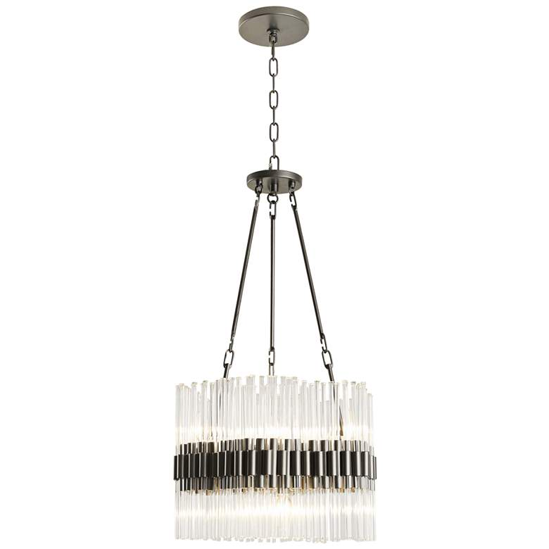 """Varaluz Astrid 17 3/4""""W New Bronze and Crystal Chandelier"""
