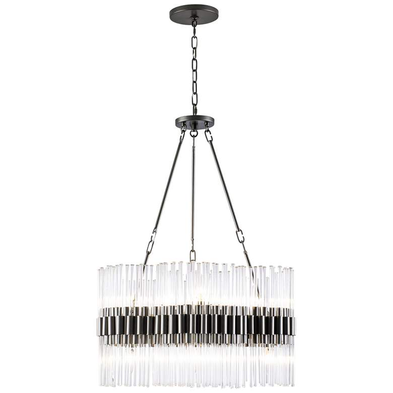 """Varaluz Astrid 20"""" Wide New Bronze and Crystal Chandelier"""