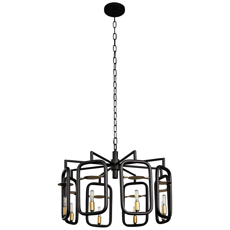 """Varaluz Bar None 24""""W Aged Gold and Rustic Bronze Chandelier"""