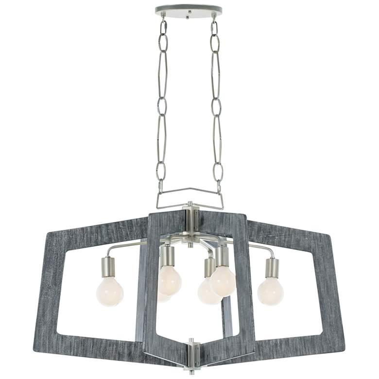 "Lofty 36"" Wide Silverado Gray Kitchen Island Light Pendant"