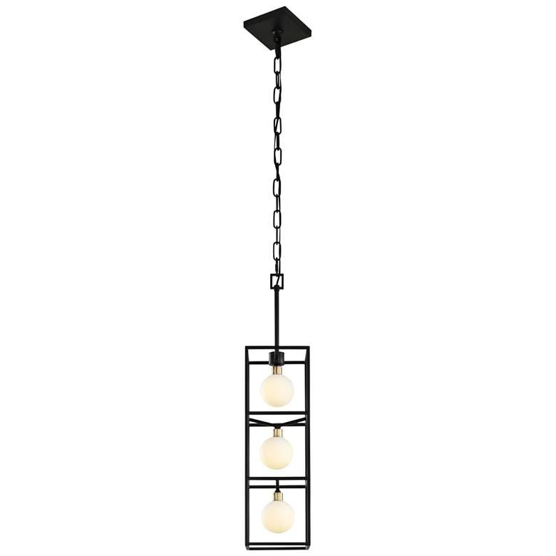 """Varaluz Plaza 6"""" Wide Carbon 3-Light LED Foyer Mini Pendant"""
