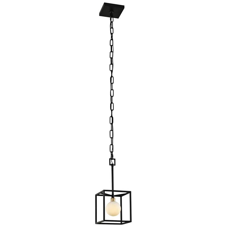 "Varaluz Plaza 6""W Carbon and Havana Gold LED Mini Pendant"