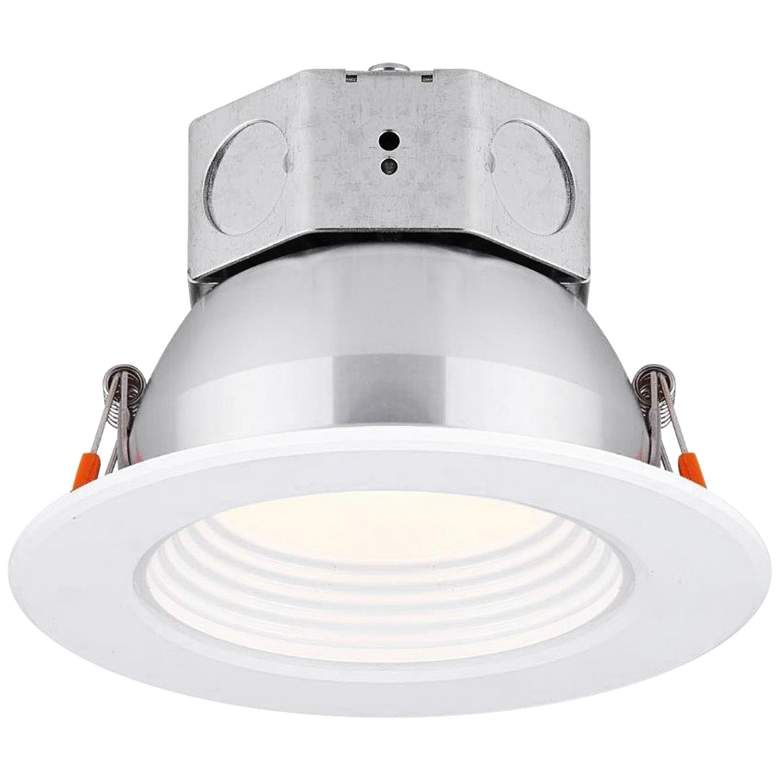 "Veloce 4"" White LED Baffle Downlight"