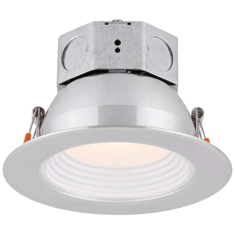 "Veloce 4"" Nickel LED Baffle Downlight"