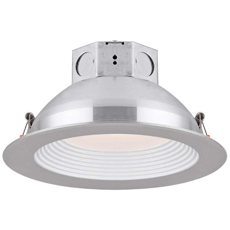 "Veloce 6"" Nickel LED Baffle Downlight"