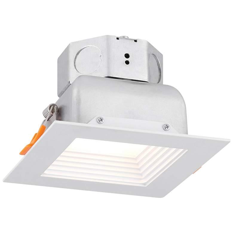 "Veloce 4"" White LED Square Baffle Downlight"