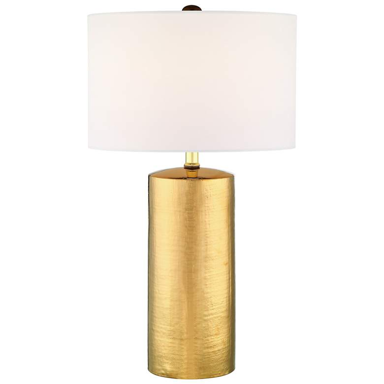 Lite Source Jacoby Gold Ceramic Column Table Lamp