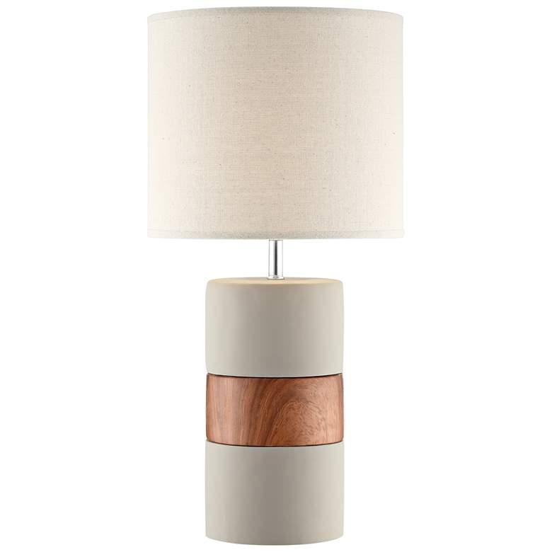 Lite Source Tiago Brown Ceramic Column Table Lamp