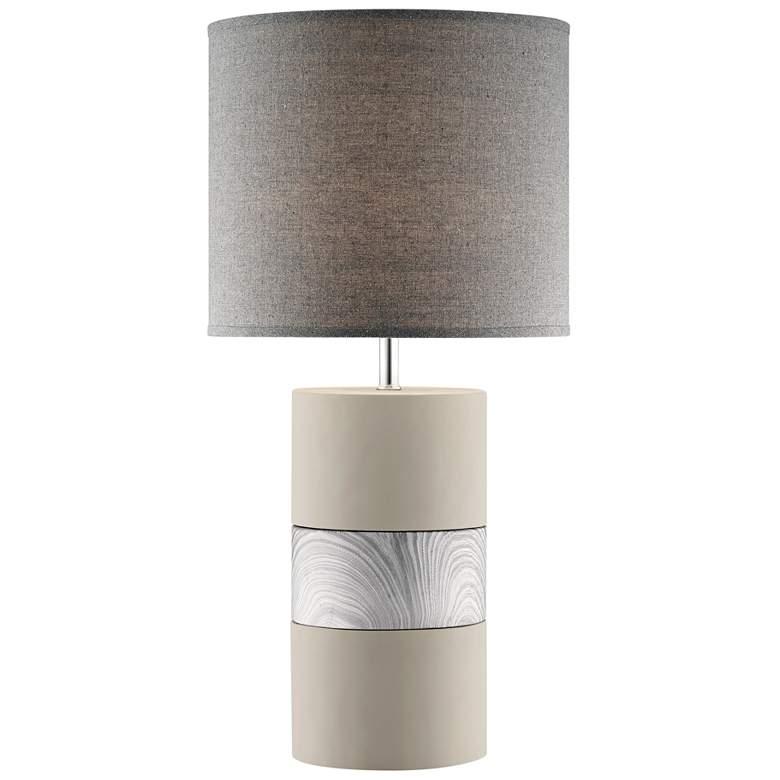 Lite Source Tiago Gray Ceramic Column Table Lamp