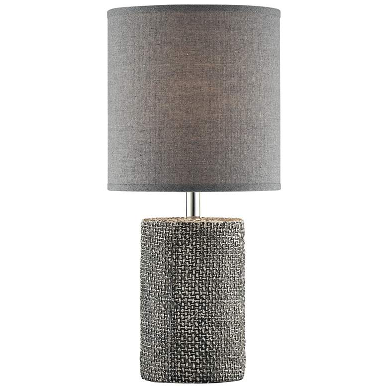 "Lite Source Dustin 17 3/4""H Gray Ceramic Accent Table Lamp"
