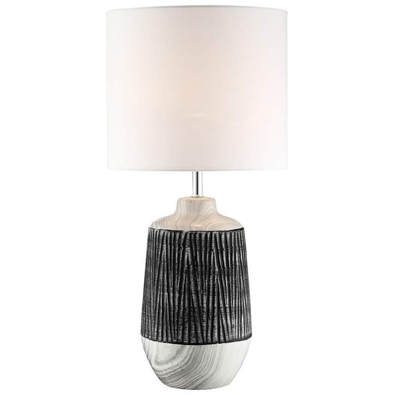 Lite Source Montana Gray Ceramic Table Lamp w/