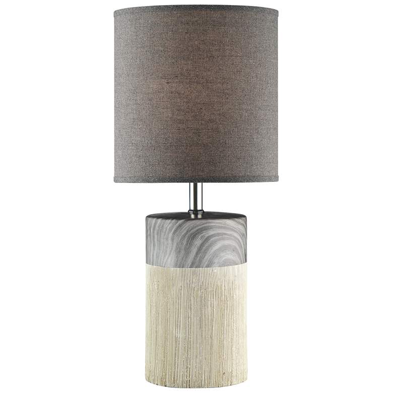 "Lite Source Helena 18 1/2""H Gray Ceramic Accent Table Lamp"