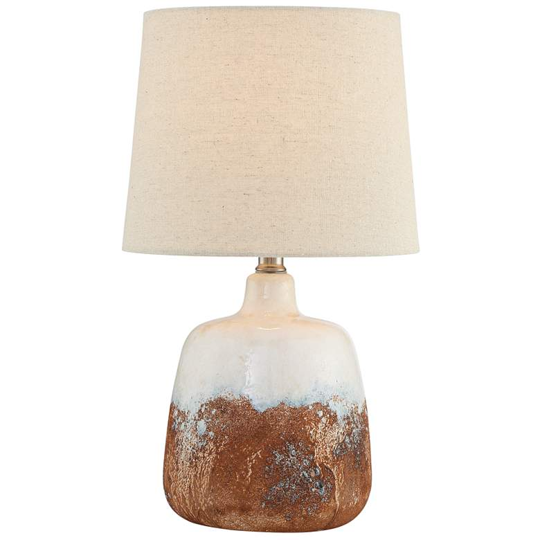 """Lite Source Marco 17 1/4""""H White Ceramic Accent Table Lamp"""