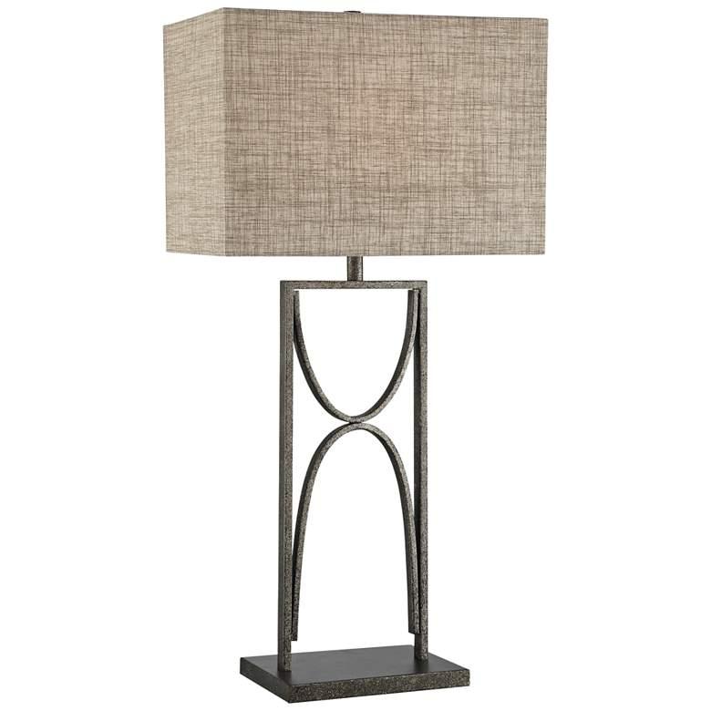Lite Source Jefferson Aged Silver Open Base Table Lamp