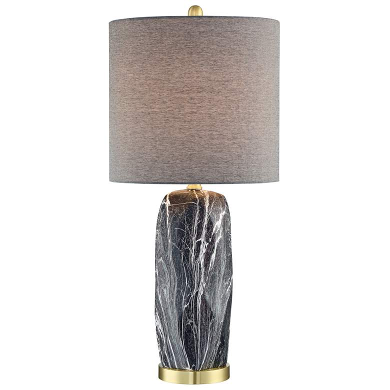 Lite Source Coliseo Mixed Black Ceramic Table Lamp