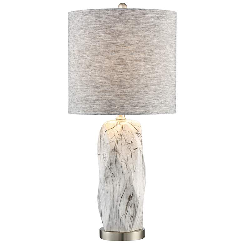 Lite Source Coliseo Mixed White Ceramic Table Lamp