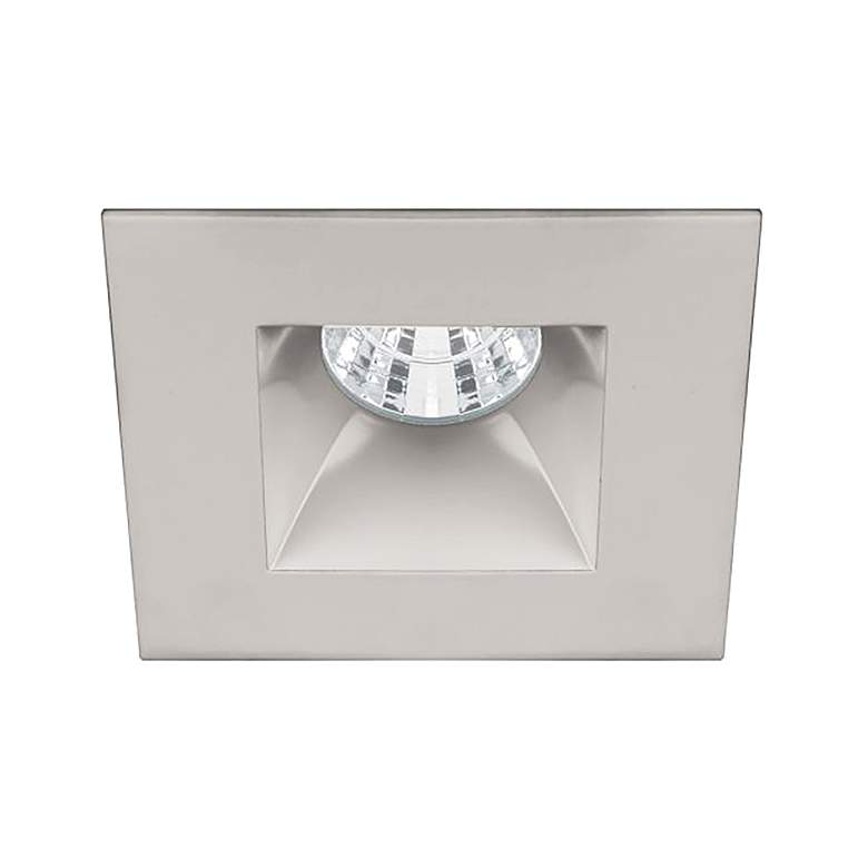"Oculux 2"" Square Brushed Nickel LED Reflector Recessed"