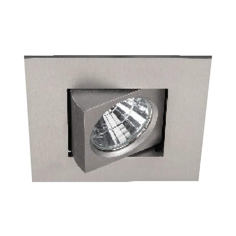 "Oculux 2"" Square Brushed Nickel LED Adjustable Recessed Kit"