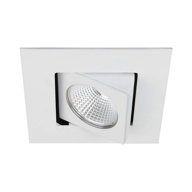 """Oculux 2"""" Square White LED Adjustable Complete Recessed Kit"""