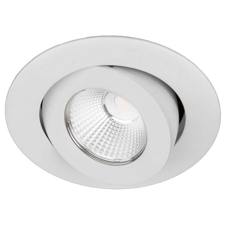 "Oculux 3 1/2"" Round White LED Adjustable Recessed Light Trim"