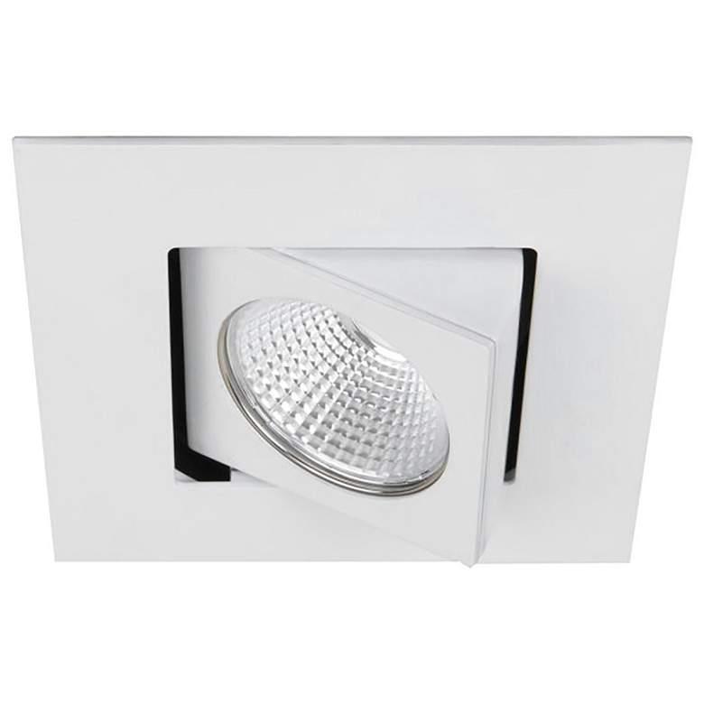 """WAC Oculux 3 1/2"""" Square White LED Adjustable Recessed Trim"""