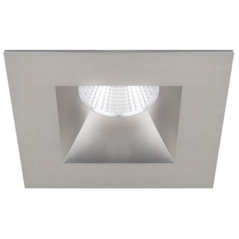 "Oculux 3 1/2"" Square Nickel LED Open Reflector Recessed Trim"
