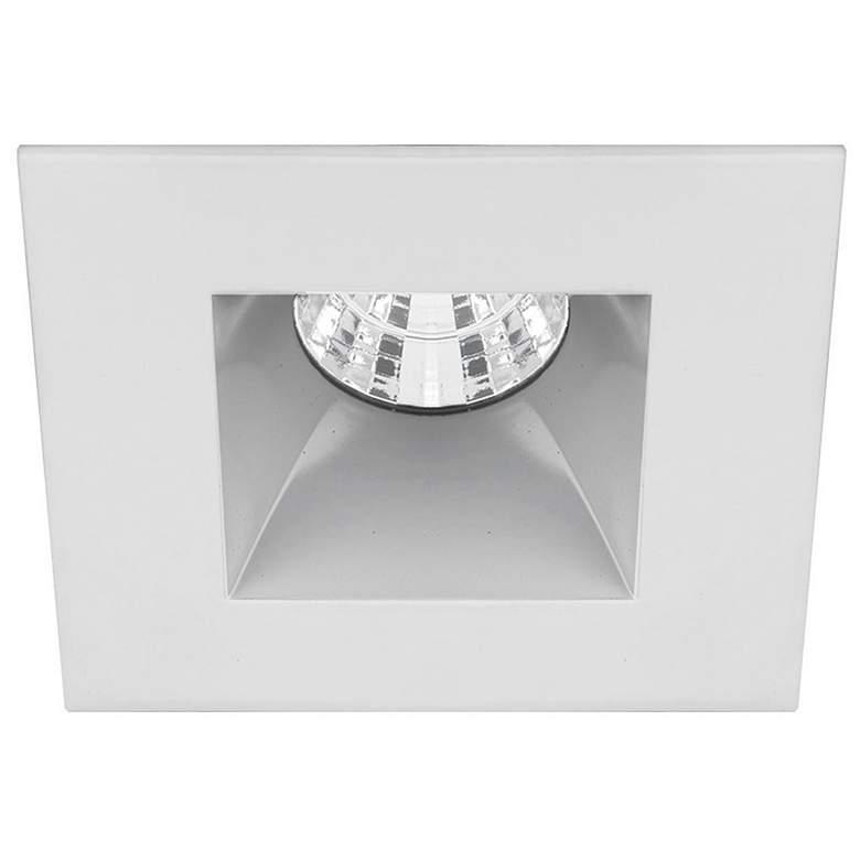 "Oculux 3 1/2"" Square Haze White LED Reflector Recessed Trim"