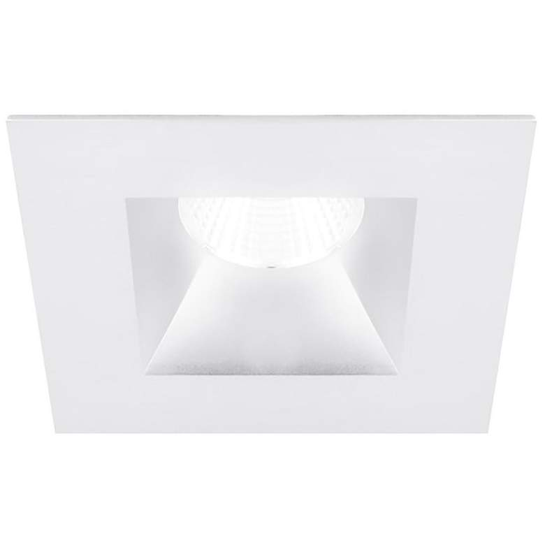 """Oculux 3 1/2"""" Square White Open Reflector LED Recessed Trim"""
