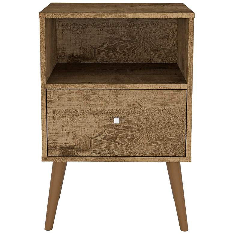 "Liberty 17 3/4"" Wide Rustic Brown 1-Drawer Wood Nightstand"