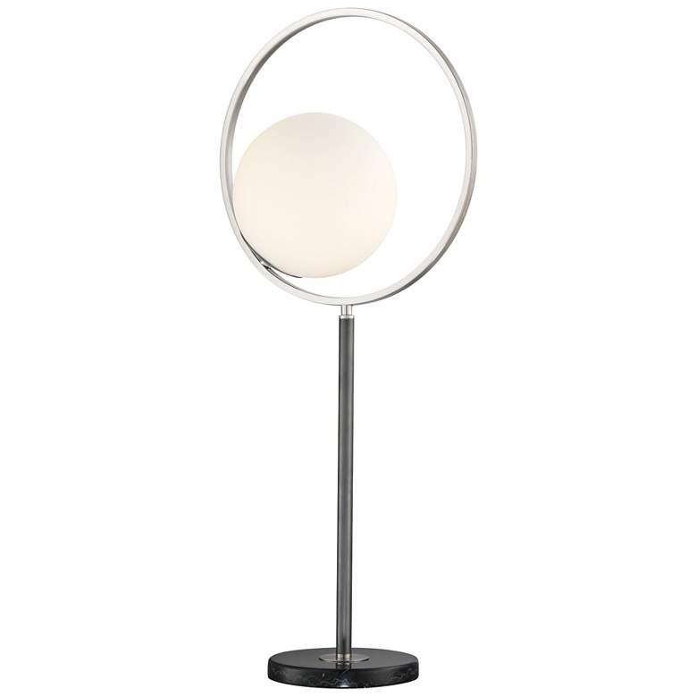 Lite Source Equinox Black Open Circle Metal Table Lamp