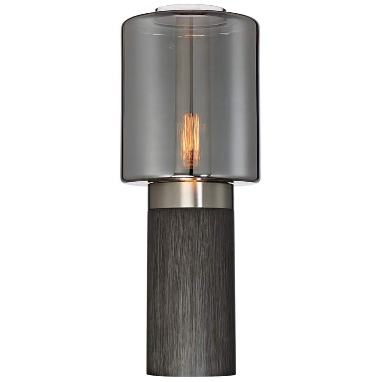 Lite Source Tanaka Charcoal Gray Wood Accent Table
