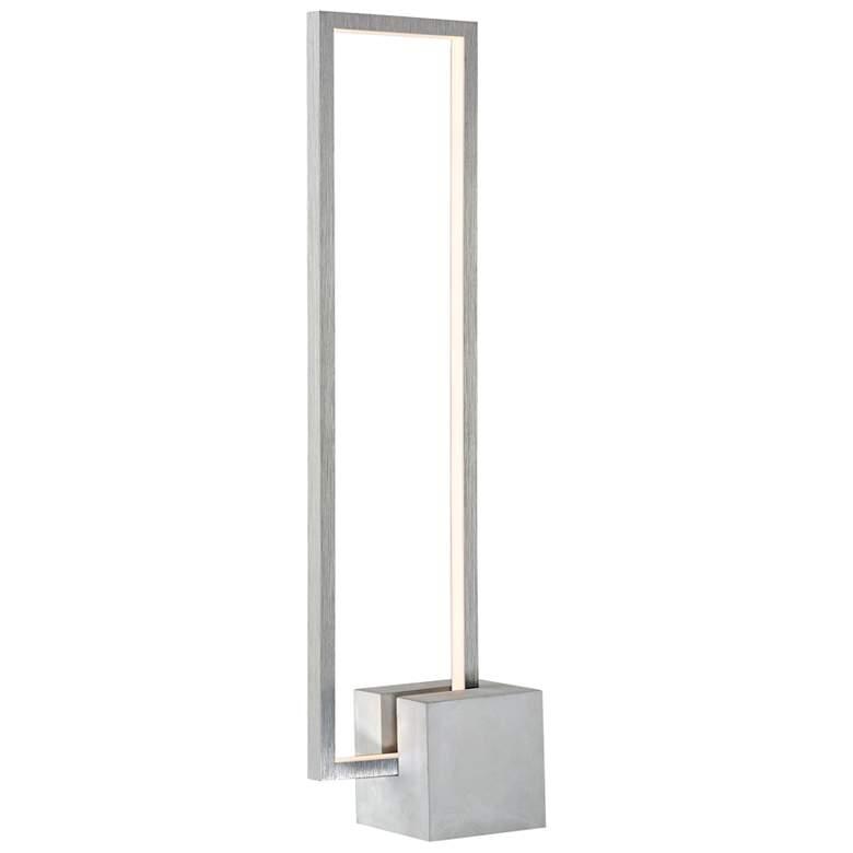 Lite Source Fantica Gray Cement Base LED Table