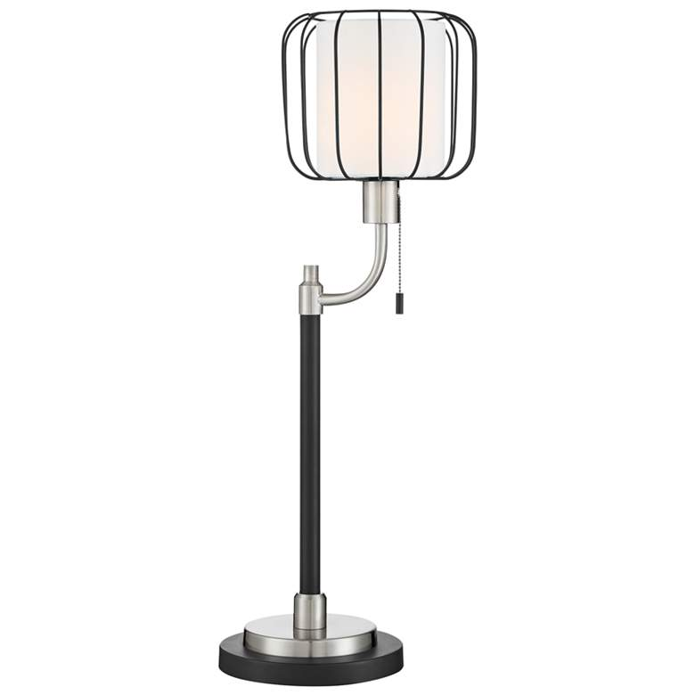 Lite Source Kaleria Brushed Nickel Uplight Table Lamp