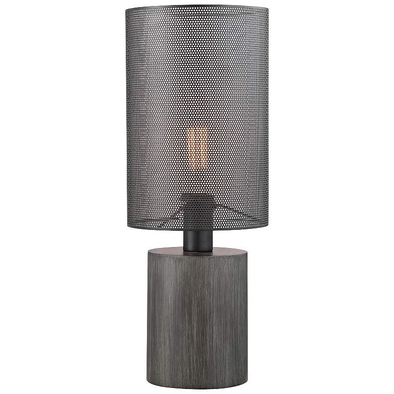 Lite Source Compton Gray Wood Accent Table Lamp